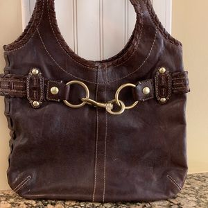 COACH Brown Laced Ergo Hobo Handbag #11225